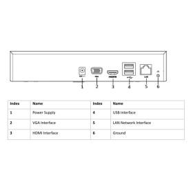NVR IP-Rekorder HIKVISION, 4 Kameras, 4 MP (2K) Auflösung, ohne Speicher