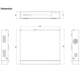 NVR IP-Rekorder HIKVISION, 8 Kameras, 4 MP (2K) Auflösung, 4 TB Speicher