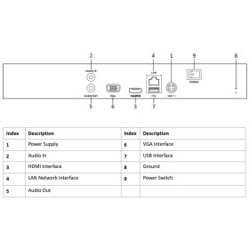NVR IP-Rekorder HIKVISION, 4 Kameras, 8 MP (4K) Auflösung, ohne Speicher