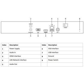 NVR IP-Rekorder HIKVISION, 4 Kameras, 8 MP (4K) Auflösung, 2 TB Speicher