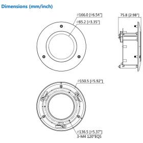 Deckenhalterung für Dome-Kameras DAHUA