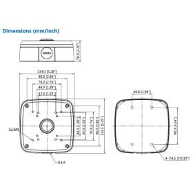 Wasserdichte Anschlussdose aus Aluminium DAHUA