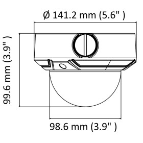 4 MP (2K) IP Dome-Kamera mit motorisiertem Objektiv...
