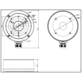 weiße Anschlussdose für Dome-Kameras HIKVISION