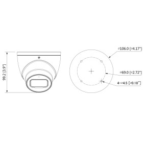 2 MP (Full HD) CVI Dome-Kamera, 50 m Nachtsicht