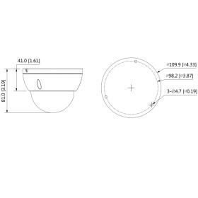 4 MP (2K) IP Dome-Kamera DAHUA, 30 m Nachtsicht