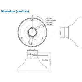 weißer Gewindeadapter aus Aluminium DAHUA