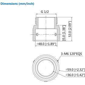 Gewindeadapter aus Aluminium in ästhetischem Design DAHUA