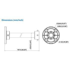 Deckenhalterung einer Mini-Dome- und Augapfelkamera DAHUA