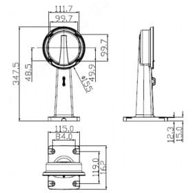 Wandhalterung für Dome-Kameras