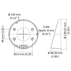 Abgehängte Deckenhalterung für Dome-Kameras HIKVISION
