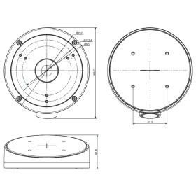 Schrägdeckenhalterung für Dome-Kameras HIKVISION