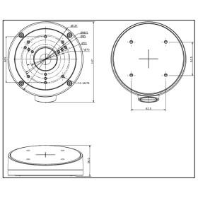 Geneigte Deckenhalterung in weiß  für Dome-Kameras HIKVISION