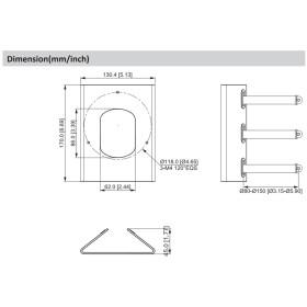 weiße Halterung für Mastmontage in ästhetischem Design DAHUA