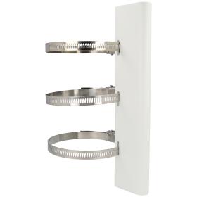 Vertikale Masthalterung in weiß aus rostfreiem Stahl HIKVISION