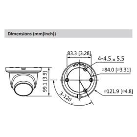2 MP (Full HD) IP Mini-Dome-Kamera DAHUA, 50 m Nachtsicht