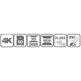 8 MP (4K) IP Bullet-Kamera HIKVISION mit optischem Zoom, 50 m Nachtsicht