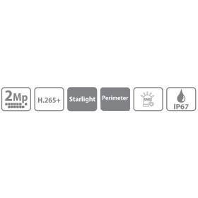 2 MP (Full HD) IP Dome-Kamera DAHUA, 40 m Nachtsicht
