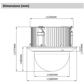 2 MP (Full HD) IP PTZ-Dome-Kamera DAHUA mit Autotracking