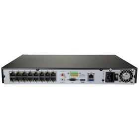 NVR IP-Rekorder HIKVISION mit 16 PoE-Ports, 16 Kameras, 8...