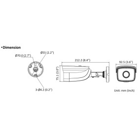 4 MP (2K) IP Bullet-Kamera HIKVISION, 50 m Nachtsicht