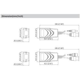 Passiver Video-Balun mit Strom DAHUA